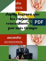Erwin Miyasaka - Japón Logrará Que Los Corazones Venezolanos Latan Por Más Tiempo