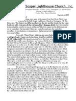 Full Gospel Lighthouse Church September 2010 Newsletter