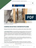 Confira Dicas Para Concretar Pilares - Capacitação - Mapa Da Obra