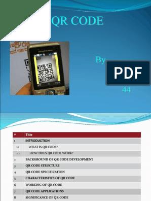 81599394 Qr Code Seminar   Qr Code   Universal Product Code