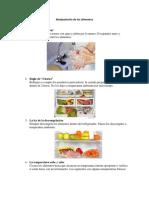 Manipulación de Los Alimentos