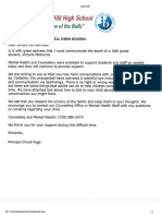 Letter sent to Smoky Hill parents
