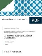 EVALUACIÓN DE LAS COMPETENCIAS.