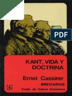 235879095 Cassirer Kant Vida y Doctrina PDF