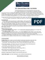 FACT SHEET Edwards Runs False Ad 2010 0906