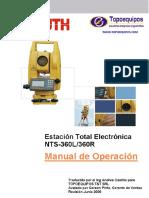Manejo de  Estacion Total South NTS 360L Y NTS 360R Completo.pdf