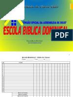 Diário de Classe EBD - PDF