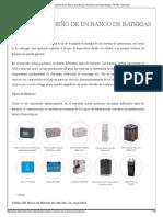 Cálculo y Diseño de Un Banco de Baterías _ Energía Solar Fotovoltaica