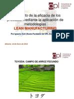 Incremento de la eficacia de los procesos mediante la aplicacion de metologias lean manufacturing