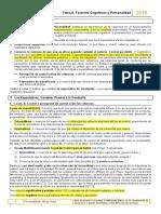 Tema 8 _ Factores Cognitivos y Personalidad