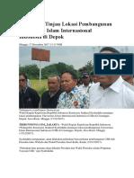 Beritai Pembangunan Universitas Islam Internasional Indonesia Di Cimanggis,Depok