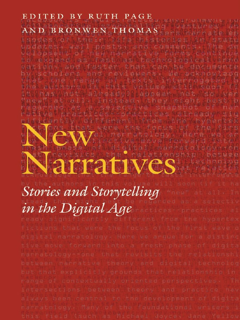 abe8aa44cd58 Frontiers of Narrative) Thomas, Bronwen_ Page, Ruth E-New Narratives ...