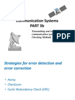 Copy of Copy of Communication Systems - Error Checking Methods