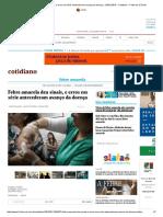 Febre Amarela Deu Sinais, e Erros Em Série Antecederam Avanço Da Doença - 29-01-2018 - Cotidiano - Folha de S.paulo