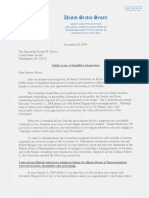 Public Letter of Qualified Admonition, Select Committee on Ethics, United States Ethics (Nov. 20, 2009)