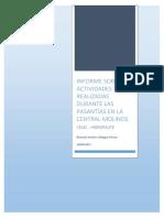 Informe de Actividades Realizadas en La Central Molinos