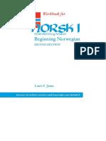 Workbook for Norsk, Nordmenn Og Norge 1_ Beginning Norwegian, Second Edition - Norsk_1