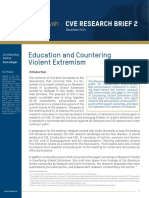 Education and Countering Violent Extremism