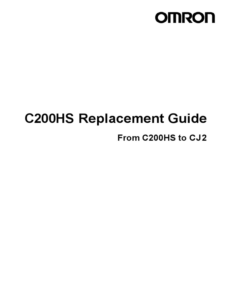 Omron C200HS to CJ2 Replacementt Guide | Computer Program ... on