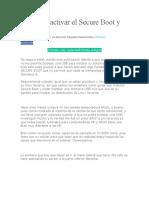 Como Desactivar El Secure Boot y UEFI
