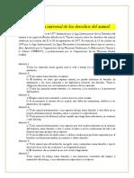 Declaraciónuniversal de Los Derechos Del Animal