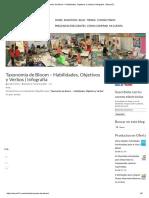 Taxonomía de Bloom – Habilidades, Objetivos y Verbos _ Infografía - Educar21