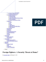Foreign Fighters_ a Security Threat at Home