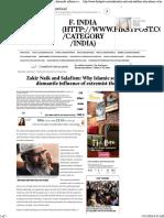 Zakir Naik and Salafism