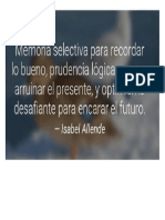 Memoria, Prudencia y Optimismo
