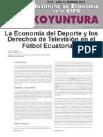 Economía del deporte y derechos televisivos - Ecuador
