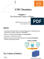 ICGSE Chemistry Chapter 1- The Particulate Nature of Matter