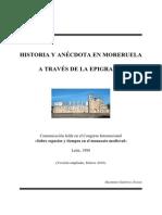 Historia y Anécdota en Moreruela a través de la Epigrafía