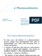 Non Linear Pharmacokinetic