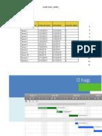 Diagrama de Gantt Matriz de Envios Foto