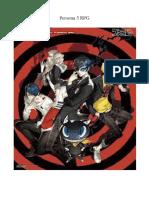 Persona 5 RPG Taverna Do Elfo e Do Arcanios
