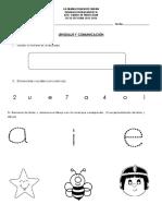 prueba diagnostica preescolar