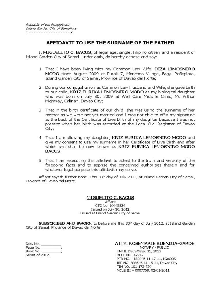 Bacus affidavit document yadclub Image collections