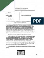 Rueda v Holland - Arbitrators' Final Signed Award