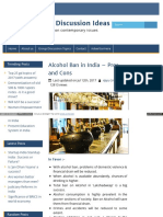 Alcohol Ban in India
