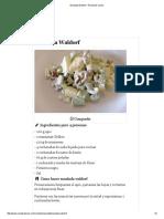 Ensalada Waldorf - Receta de Cocina