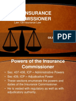 Lecture 10 the Insurance Commissioner(1)