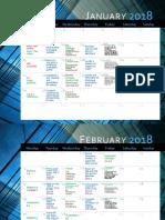spring semester 2018 calendar