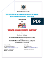 Online Cake Booking System Outline11