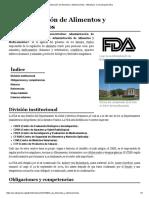Administración de Alimentos y Medicamentos - Wikipedia, La Enciclopedia Libre