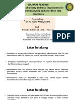 Journal Reading Prevalensi Inkontinensia Urin Dan Inkontinensia Fekal