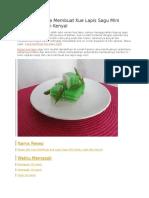 Resep Dan Cara Membuat Kue Lapis Sagu Mini Enak