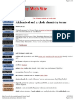 Archaic Chemistry Terms