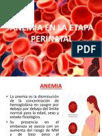 Anemia en La Etapa Perinal