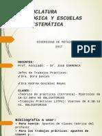 Nomenclatura Zoologica y Escuelas de Sistemática