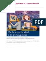 De La Creatividad a La Innovación